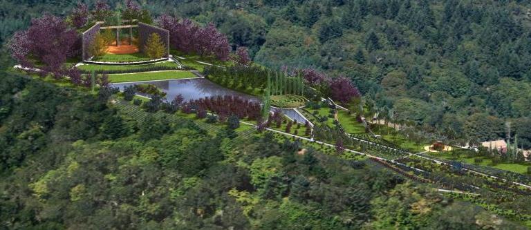 תוכנת Lands Design הדמיה של פארק גדול